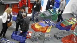 photo: shopping cart at EuroShop @ Messe Düsseldorf