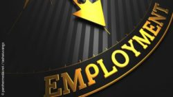 Photo: Arrow pointing towards the wording 'Employment'; copyright: panthermedia.net / tashatuvango
